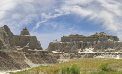 Panorama of the Badlands National Park