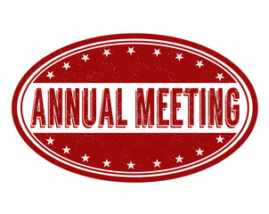 Annual meeting grunge rubber stamp