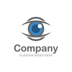 Eyes vision logo design template
