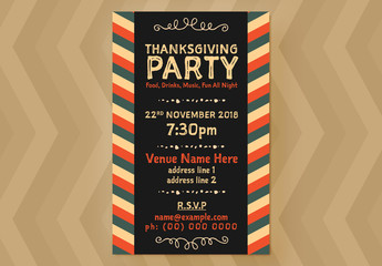Thanksgiving Event Flyer Layout 05