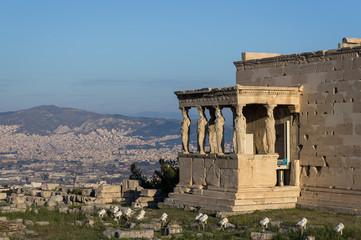 Cariatides de l'Érechthéion, Acropole, Athènes