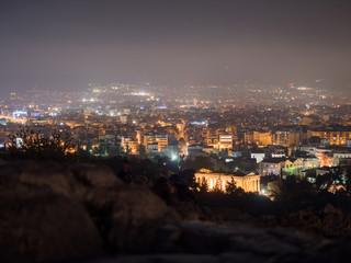 Athens city at night