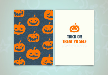 Halloween Greeting Card Layout 5