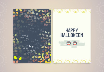 Halloween Greeting Card Layout 6