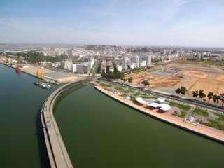 Huelva. Embarcadero Minas de Rio Tinto ( Andalucia, España)