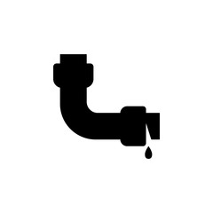 leakage in a pipe icon. Plumbing element icon. Premium quality graphic design. Signs, outline symbols collection icon for websites, web design, mobile app, info graphics
