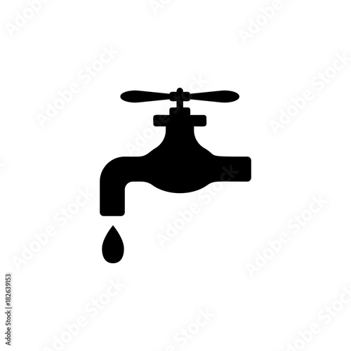 Faucet Drop Icon Plumbing Element Icon Premium Quality Graphic