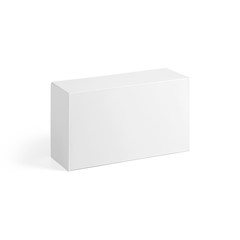 Blank White paper box isolated on white background. Packaging template mockup collection. With clipping Path included.