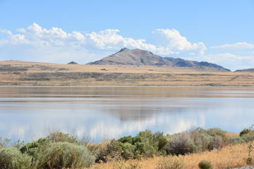 Great Salt Lake at Antelope Island State Park in Utah