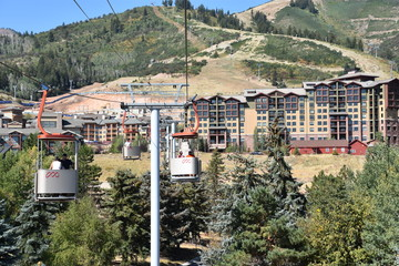Cabins of the Cabriolet lift at Canyons Resort in Park City, Utah