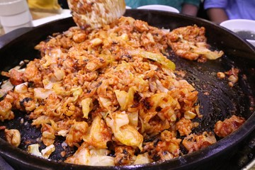 Dak galbi fried sauce korean food