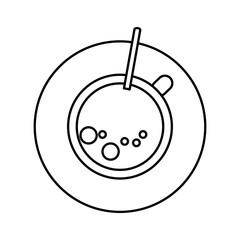 Isolated coffee mug design