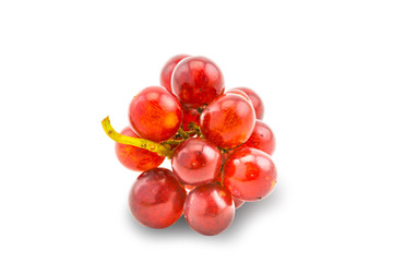 Fototapete - Bunch of fresh red grapes