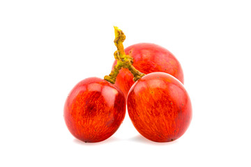 Fototapete - Fresh red grapes