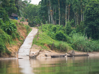 Boat landing at the Tanintharyi River