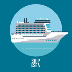 Cruise luxury boat icon vector illustration graphic design