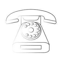 Vintage telephone symbol icon vector illustration graphic design