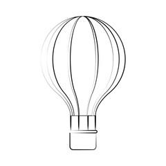 Hot air balloon icon vector illustration graphic design