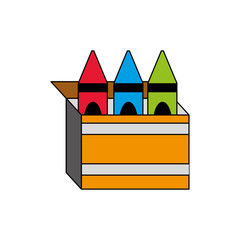 Isolated crayon box design