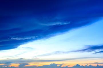 Blue sky with blue cloud and sun light.