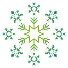 snowflake snow icon christmas and winter theme decoration vector illustration