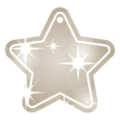 christmas tag price shaped star blur glitter decoration vector illustration