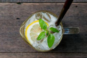 iced lemon plum juice