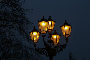 Street light / Vintage street lamp close-up