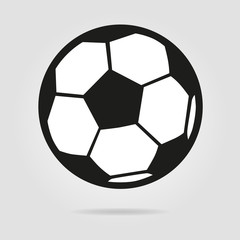 Football ball logo isolated