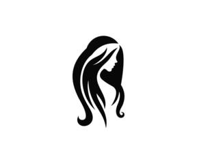 beautiful woman profile vector silhouette