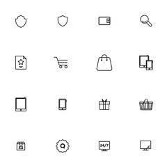 E-commerce vector collection icon set