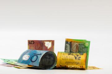closeup shot of a australian dollar