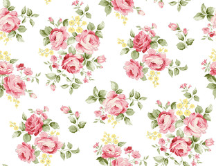 Beautiful rose flower pattern , little floral bouquet vintage for fashion