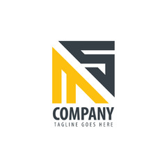 Initial Letter MS Design Logo