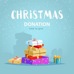 Christmas donate concept