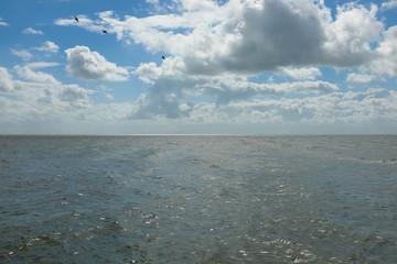 Sky, sea and clouds