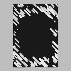 Abstract random diagonal rounded stripe pattern page background template - blank trendy vector brochure, stationery graphic design with stripes in light color tones