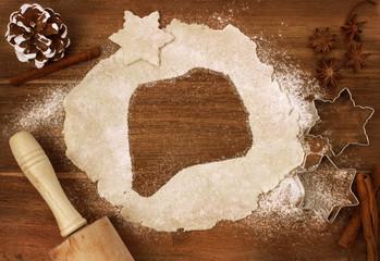 Cookie dough cut as the shape of Rwanda (series)
