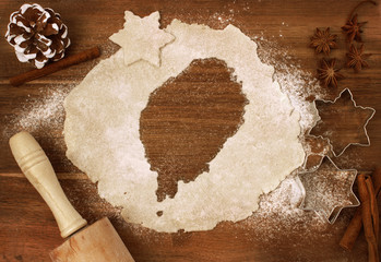 Cookie dough cut as the shape of Sao Tome and Principe (series)
