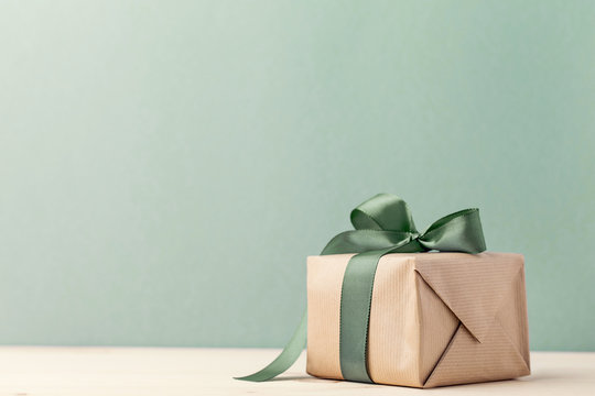 Presents wrapped in craft paper