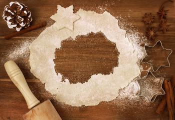 Cookie dough cut as the shape of Macedonia (series)