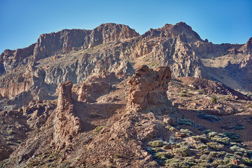 Landscape with mount Teide, volcano Teide and lava scenery in Teide National Park - Tenerife, Canary Islands