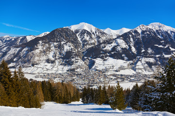 Fototapete - Mountains ski resort Bad Hofgastein - Austria