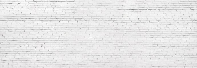 grunge white brick wall, whitewashed brickwork background