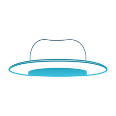 top-hat in degraded blue silhouette on white background vector illustration