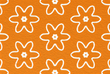 easy arabesque pattern background - kid art style
