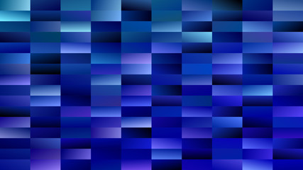 Geometrical gradient rectangle background - digital mosaic vector graphic from rectangles in blue tones