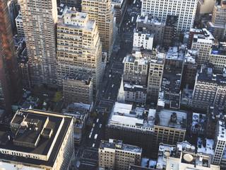 Vista aérea de la ciudad de New York
