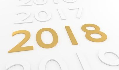 2018 3D text