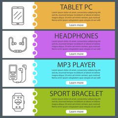Gadgets web banner templates set